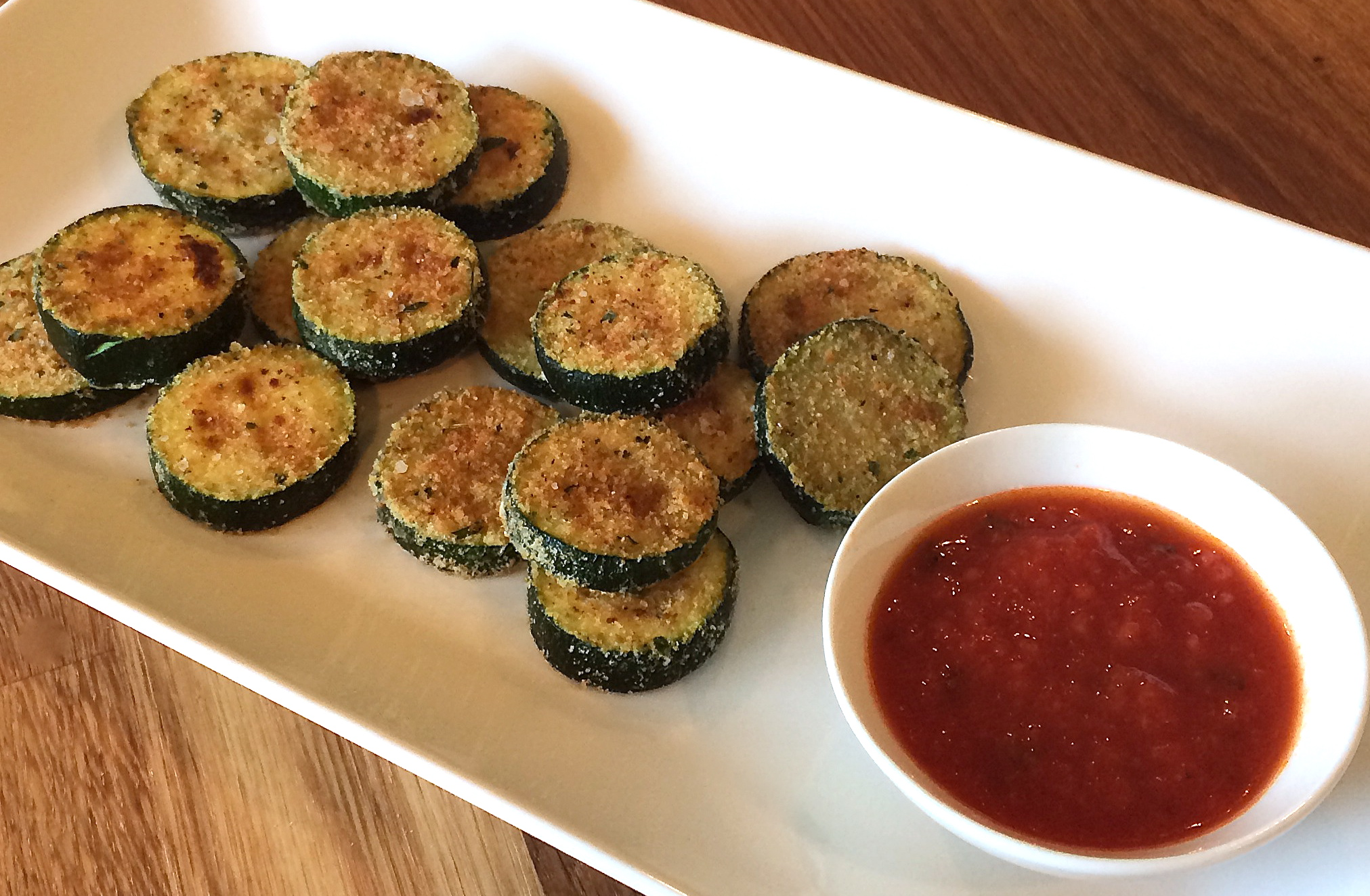 Baked Parmesan Crusted Zucchini Bites - Flavor Finds